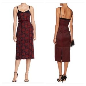 Cinq a Sept brocade midi dress